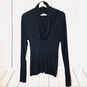 TART Small Cowl neck black knit top